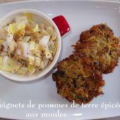 Les Beignets de Pommes de terre épicées aux Moules - Chez Mamigoz