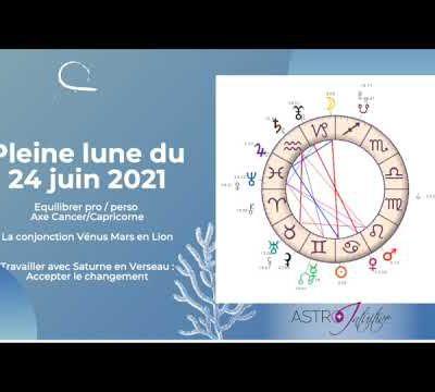 Podcast : la Pleine Lune du 24 juin et l'axe Cancer/Capricorne