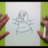 Como dibujar a Clarence paso a paso 2 - Clarence   How to draw Clarence 2 - Clarence