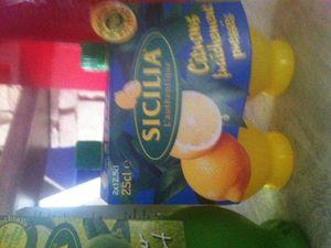 SICILIA  le pur  jus de citron .