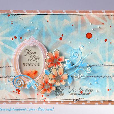 Défi #676 de PCC / Sketch carte sur  La Guilde / Combo sur ABC