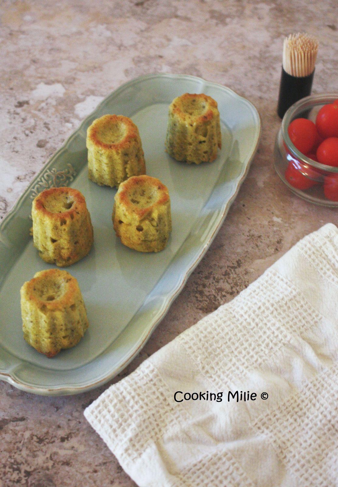 Apéritif dinatoire #116 - Cannelés au pesto et parmesan