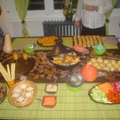 Mon buffet automnal pour 100% Mag : le menu