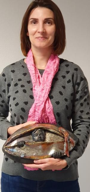 La gagnante de la tombola du ruban rose: Mme Edard