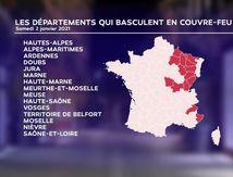 Couvre-feu à 18h : voici la carte des 15 départements concernés dès demai