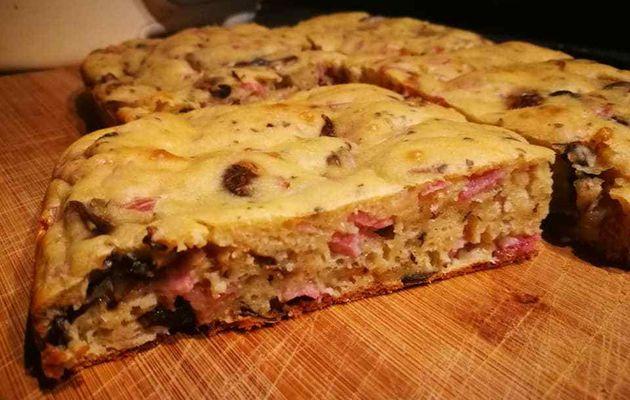 Cake Jambon-champignons