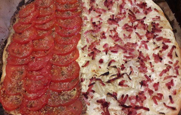 Tarte fine aux tomates et a la moutarde
