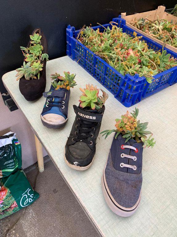Des chaussures fleuries !