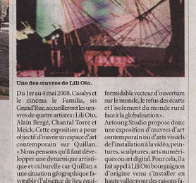 Musique lili-oto et Bug, video art contemporain Languedoc Roussillon
