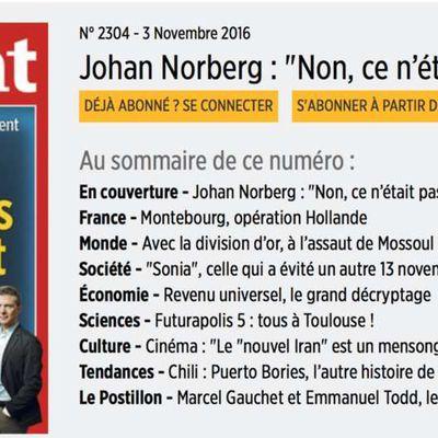 Johan Norberg à la une du point