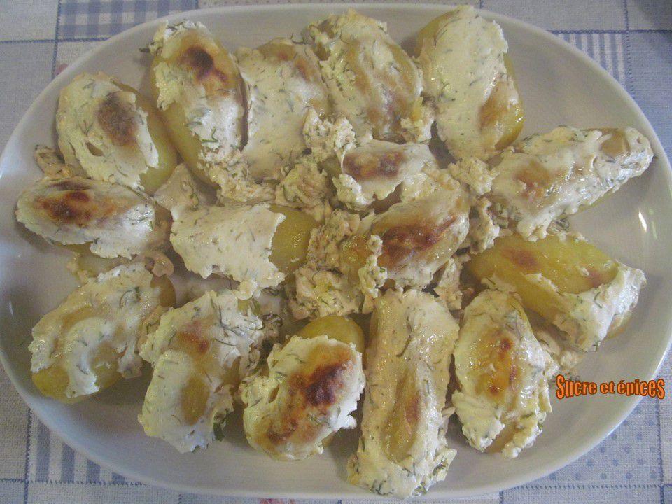 Pommes de terre au four, au fromage blanc et aneth - Recette en vidéo