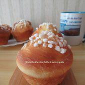 Briochettes à la crème fraîche et sucre en grains - Mes recettes et photos de gâteaux