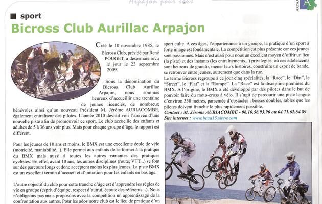 Article Arpajon Pour Tous 2010