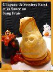 Halloween: Chapeaux de Sorcière Farcis et sa Sauce au Sang Frais ...