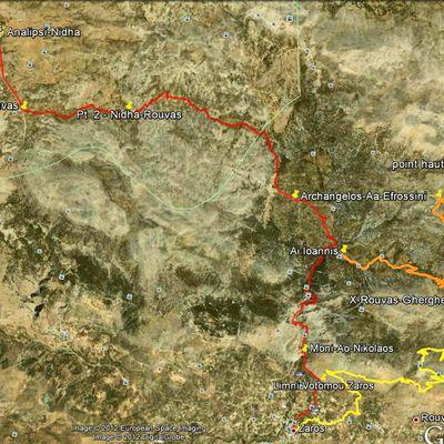 Randonnée en Crète n°81 : du Nidha à Zaros par la gorge de Rouvas.