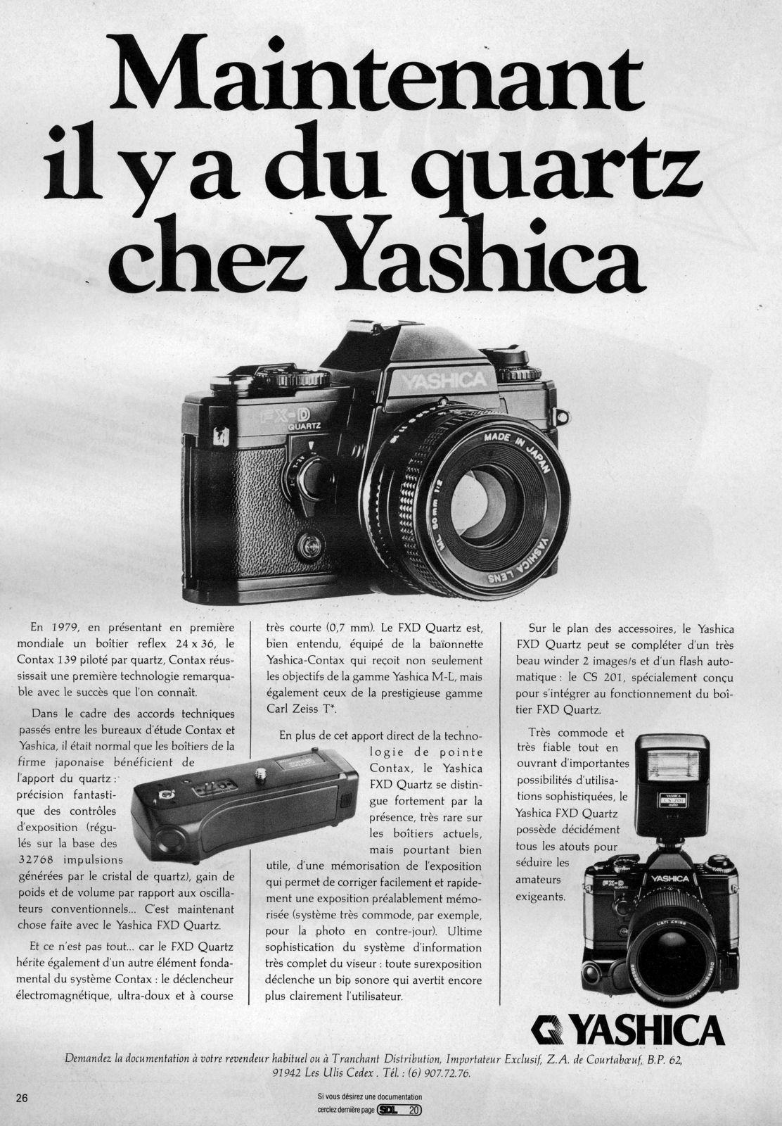 Yashica FXD quartz.