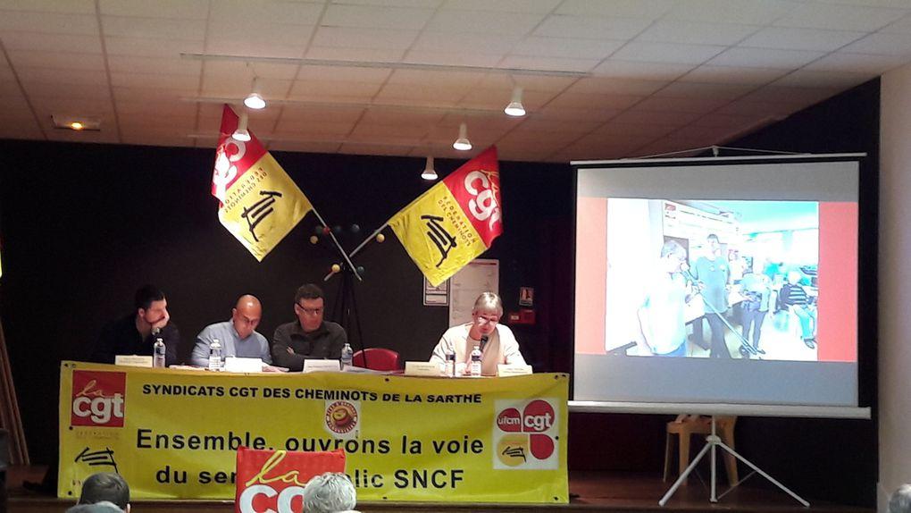 Retour en images sur le Congrès des cheminots CGT de la Sarthe du 24 et 25 Nov.2017