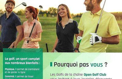 Profitez des Portes Ouvertes pour découvrir le golf