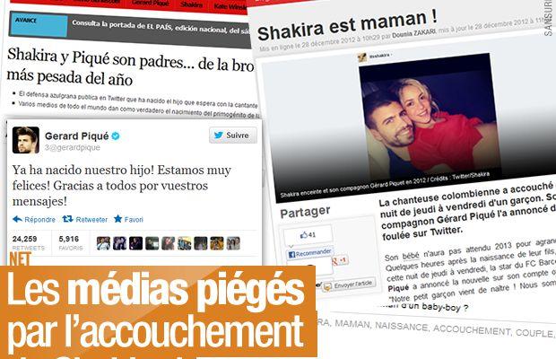 Les médias piégés par l'accouchement de Shakira !