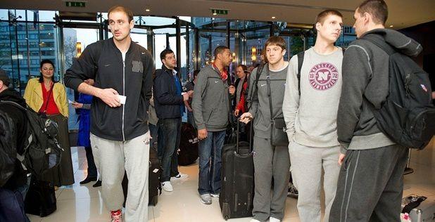 Final Four: L'arrivée des joueurs du CSKA en images