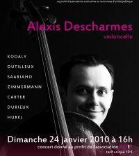 alexis descharmes, un ambassadeur actif de nombreux répertoires pour violoncelle, dédicataire d'une cinquantaine d'oeuvres contemporaines, concertantes ou solistes