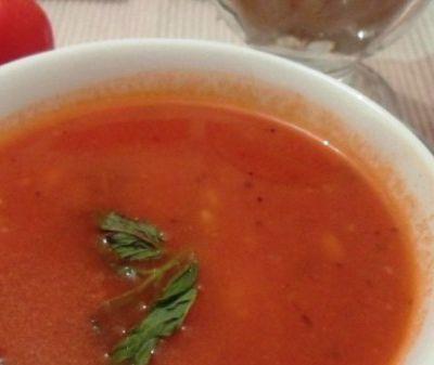 Soupe de tomates à la menthe (Thermomix)