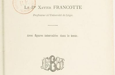 L'anthropologie criminelle, du Dr Xavier Francotte