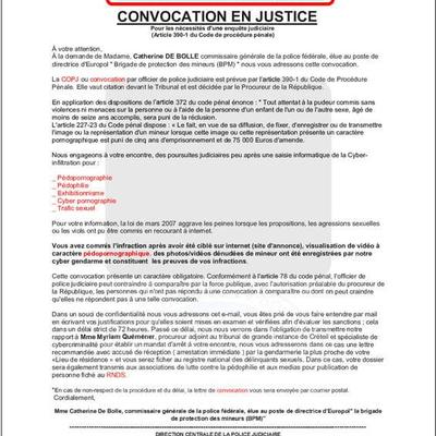 [ Cyber Sécurité ]  ALERTE DE LA COMPAGNIE DE GENDARMERIE DE FÉCAMP