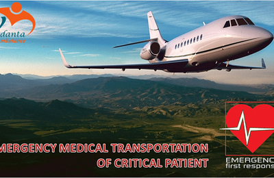 Evacuation of the patient through flying ICU/ CCU by Vedanta in Kolkata and in Ranchi