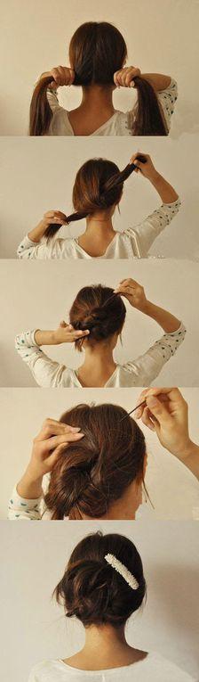 Des coiffures en 10 sec...
