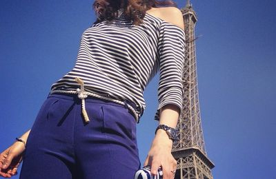 Full #outfit & #details on #sofrenchbynaty blog  www.sofrench.pro Link in bio  #sailor #blue @clairechataigner #Paris #toureiffel #cruise #evjf ⚓️💙 (à Paris, France)