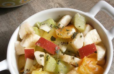 Salade de fruits de printemps ~ En bonus,un accord mets/vin ~