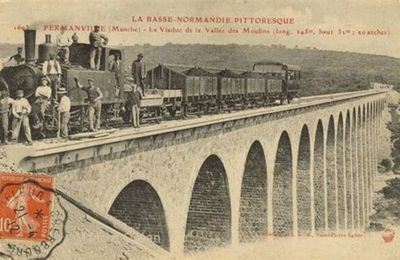 COTENTIN, UN TRAIN EN VAL DE SAIRE