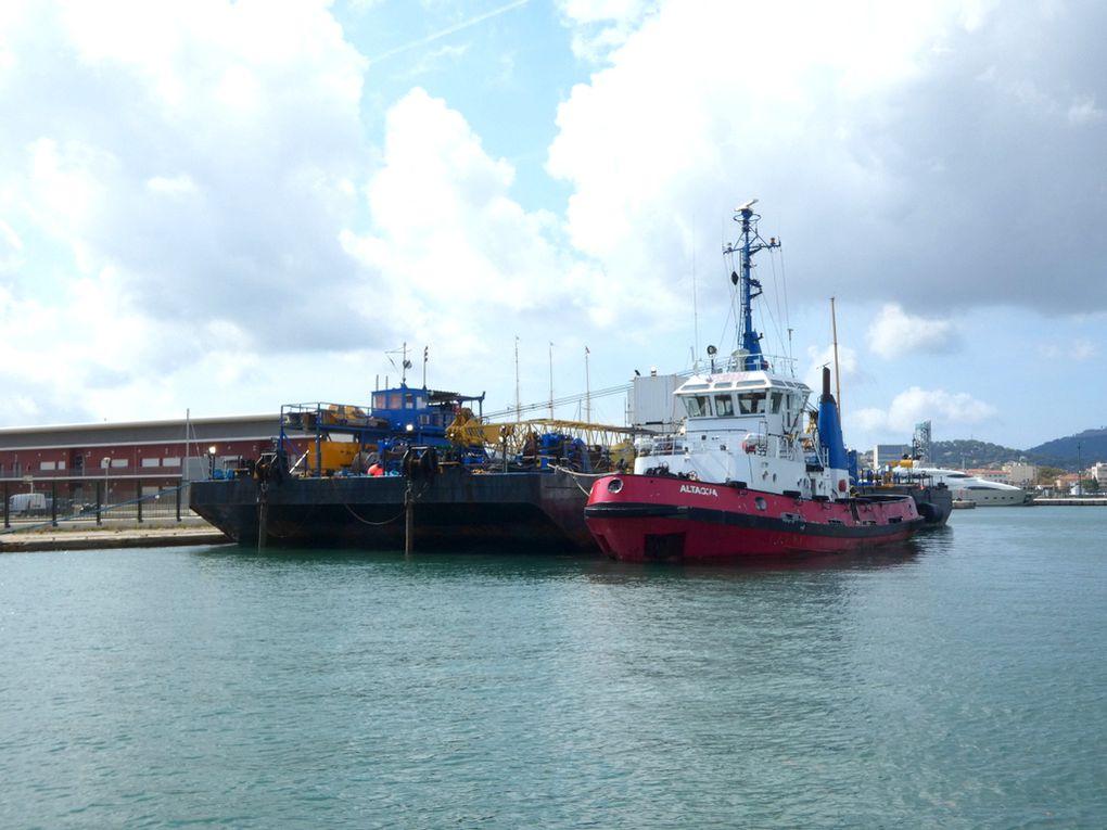 Barge EDMOND  & Altagna , a quai à la Seyne sur Mer le 24 septembre 2020