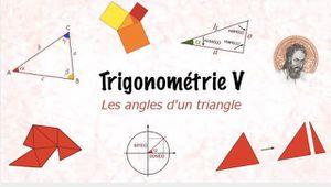 Les angles d'un triangle