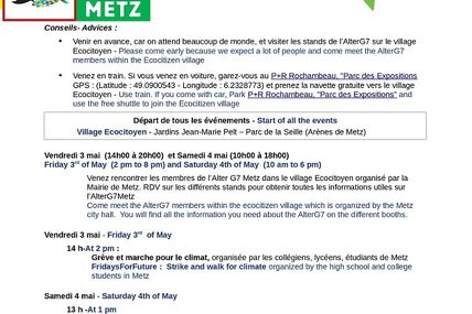 Metz Alter G7 Metz les 3, 4 et 5 mai 2019.