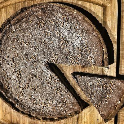 Tarte chocolat noir - sarrasin - caramel beurre salé