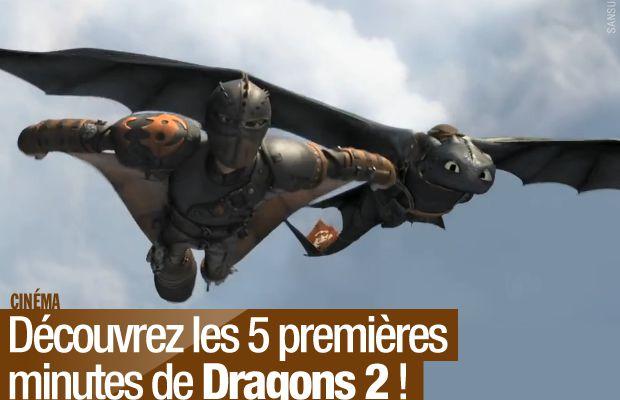 Découvrez les 5 premières minutes de Dragons 2 ! #Dragons2