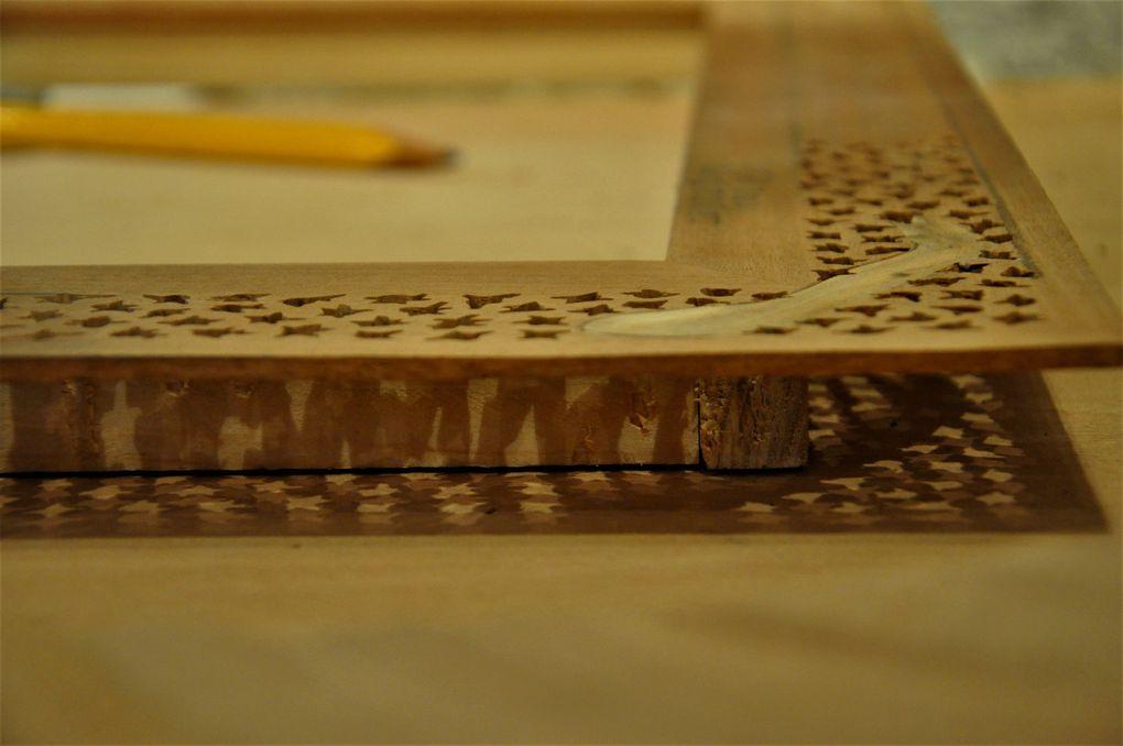 Démonstration pour le bois brodé (3 photos)