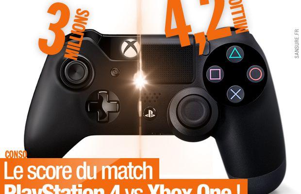 Le score du match PlayStation 4 vs Xbox One ! #consoles