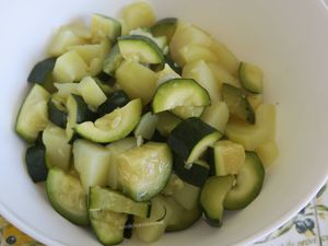Parmentier aux courgettes et pommes de terre, au bœuf