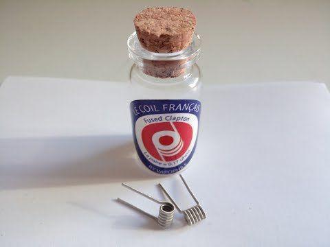 Test - Coils - Le Coil Francais - Fused Clapton la paire 0,17 ohms de chez Vapophile