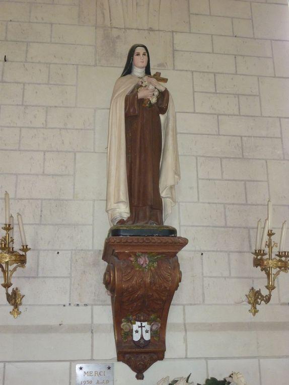 Quelques statues de l'église de Chaumont-sur-Loire