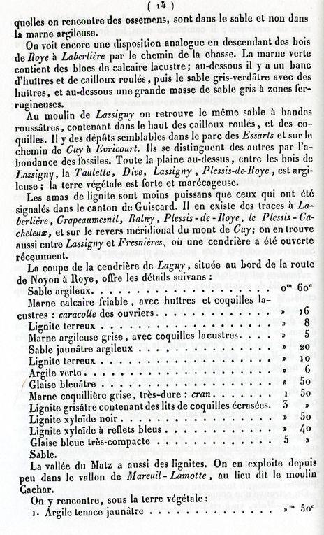 Album - le canton de Lassigny (Oise), sa situation vers 1840