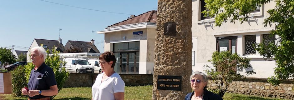 27 Mai 2020 : Journée nationale de la Résistance -  Intervention devant le monument aux morts de Trignac