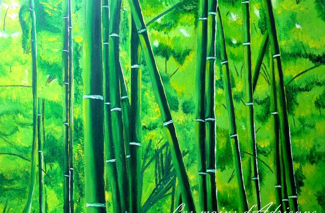 Tableau bambou