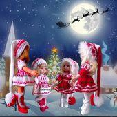 tutos gratuits poupées : préparons NOËL - Chez Laramicelle