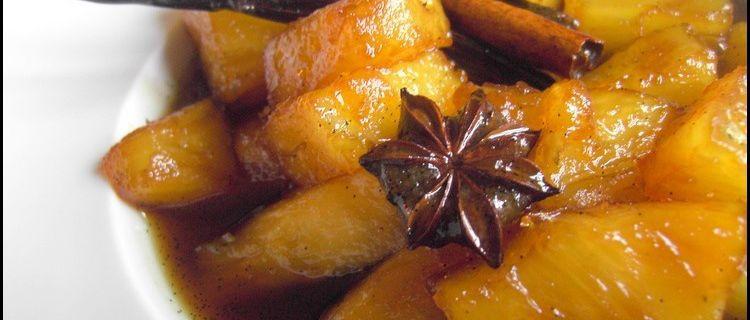Poêlée d'Ananas aux épices