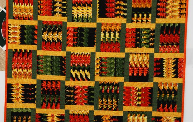 un nouvel exemple de stack-n-whack / another stack-n-whack quilt