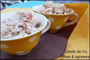 Salade de riz au thon et aux agrumes